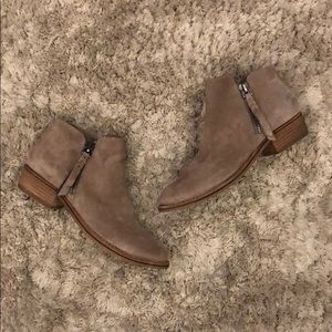 Dolce Vita Sutton Suede Double Zip Ankle Booties